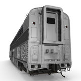Modern doubledeck Railroad Wagon on white. 3D illustration. Modern doubledeck Railroad Wagon on white background. 3D illustration Stock Images