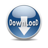 Modern download icon Stock Image