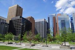 Modern Downtown in Calgary, Alberta Canada. Royalty Free Stock Photos