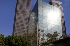 Modern Downtown City of Los Angeles Buildings Stock Image