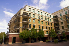 Modern Downtown Condominiums Royalty Free Stock Image