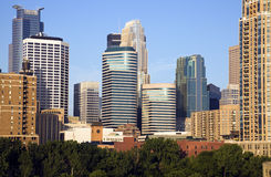 Modern Downtown of Minneapolis Royalty Free Stock Image