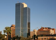 Modern downtown office building in Phoenix. Arizona Royalty Free Stock Photography