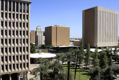 Modern downtown office buildings. Modern office buildings in downtown Phoenix, Arizona Stock Image