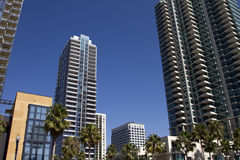 Modern Downtown San Diego Condos and Retail stock image