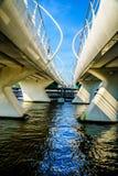 Modern Draw Bridge at the town of Zaandijk crossing the Zaan River Stock Photography