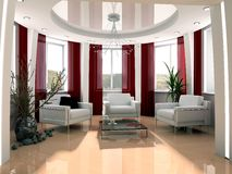 Modern drawing room Royalty Free Stock Photo
