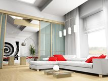 modern drawing room Stock Images