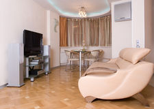 Modern drawing room interior Stock Images