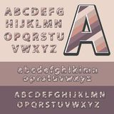 Modern drawn pastel ABC letters. Font for poster. Vector illustration Royalty Free Stock Photography