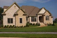 Modern dream home. Modern executive dream home against blue sky Stock Image