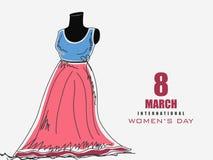 Modern dress on dummy for International Womens Day. Stock Photography