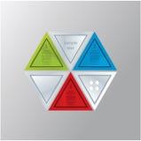 Modern driehoeksthema. Kan aan vele verschillende vormen worden samengesteld. Stock Afbeeldingen