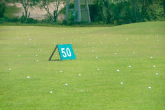 Modern driving range Stock Photo