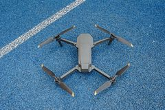 Modern drone. Top view stock image