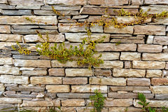 A Modern Dry Stone Wall Royalty Free Stock Images