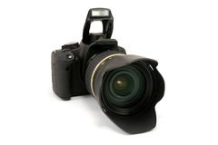 Modern dslr photo camera Royalty Free Stock Image