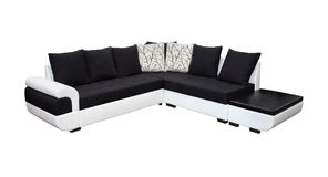 Dual tone sofa. Modern dual tone sofa isolated with clipping path included Stock Photos