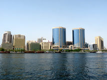 Modern Dubai Creek Skyline. Modern Buildings along the Dubai Creek - United Arab Emirates Stock Photography