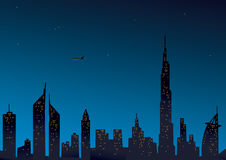 Modern Dubai view vector illustration