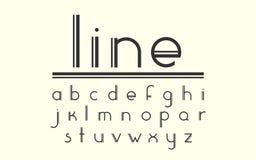 Modern dubbel linje skärmvektorstilsort och alfabet Royaltyfri Fotografi