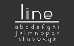 Modern dubbel linje skärmvektorstilsort och alfabet Royaltyfri Foto
