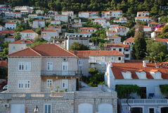 Modern Dubrovnik. View at the district in Dubrovnik outside the Old Town Stock Photography