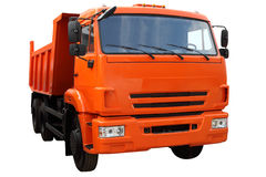 Modern dump truck. Modern dump truck, isolated on white background Royalty Free Stock Photography