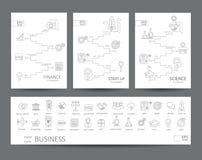Modern dun Se van lijnpictogrammen Stock Afbeeldingen