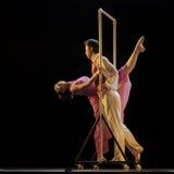 Modern duo dancers Stock Image