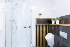 modern dusch Arkivfoton