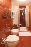 modern dusch för bidékabin Arkivfoto