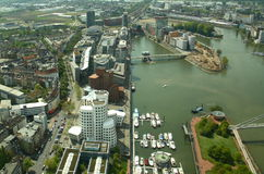 Modern Dusseldorf (Duitsland) Stock Foto