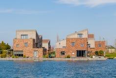 Modern Dutch houses royalty free stock photos
