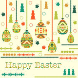 Modern Easter background, happy Easter card, vector illustration Stock Photos