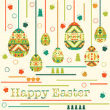 Modern Easter background, happy Easter card Stock Photo