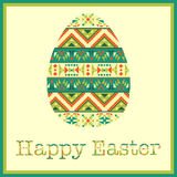 Modern Easter background, happy Easter card Stock Photography