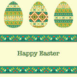 Modern Easter background, happy Easter card Royalty Free Stock Image