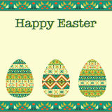 Modern Easter background, happy Easter card Royalty Free Stock Photography