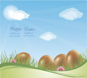 Modern Easter background Royalty Free Stock Images