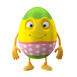 Modern easter egg on white background Royalty Free Stock Photo