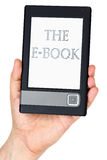 Modern ebook reader in hand Stock Image