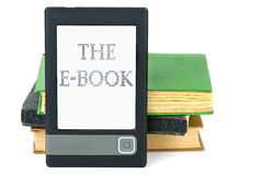 Modern ebook reader and old paper books Royalty Free Stock Photography