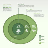 Modern eco concept pie chart infographic elements Stock Photography
