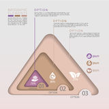 Modern eco concept triangle infographic elements Royalty Free Stock Images