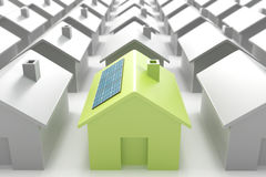 Modern eco house standing out from the crowd Stock Image
