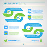 Modern eco infographics elements Royalty Free Stock Images