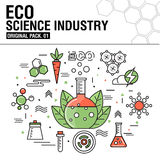 Modern eco science industry. Thin line icons set Royalty Free Stock Photography