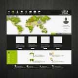 Modern Eco website template with flat eco Earth map illustration Stock Photo