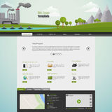 Modern Eco website template with flat eco pollution illustration Stock Photos